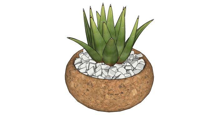 Mini vaso de cortiça - 3D Warehouse