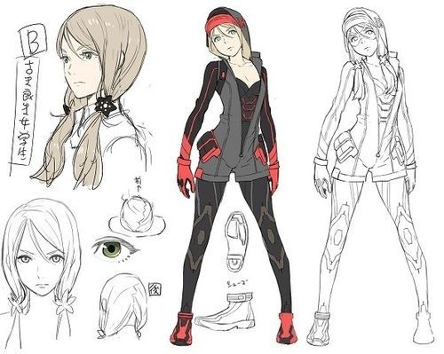 Anime Female Character Design : Best character model sheets images on pinterest