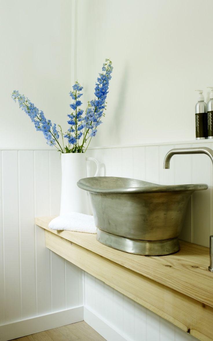 Cottage Bathroom sink by Louise Holt Design