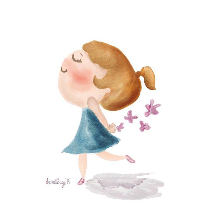 Spring girl: Lily