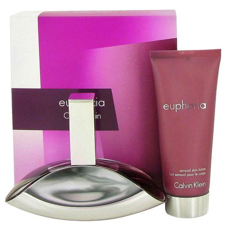 Euphoria by Calvin Klein Gift Set -- 3.4 oz Eau De Parfum Spray + 3.4 oz Sensual Skin Lotion