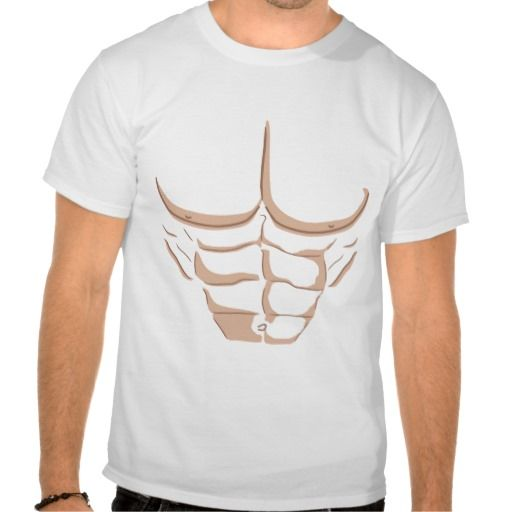 Fake Abs - Light T-shirt #funny #exercise #gym #keep #fit #t-shirt