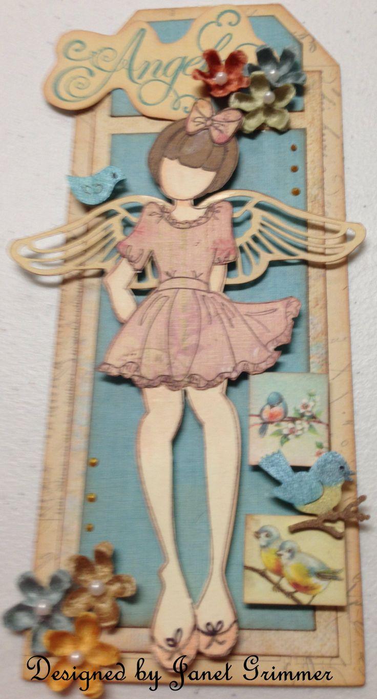 """""""Angel"""" Prima doll tag"""