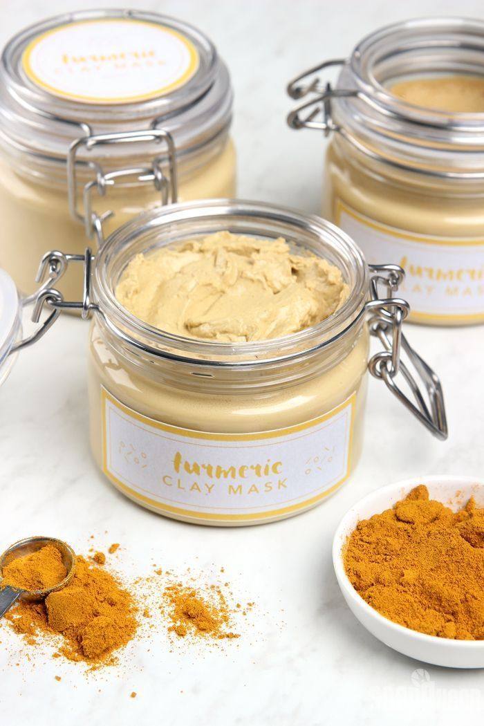 DIY Turmeric Clay Face Mask (with preservatives! Yayyy) #HomemadeFaceMasks #Face…