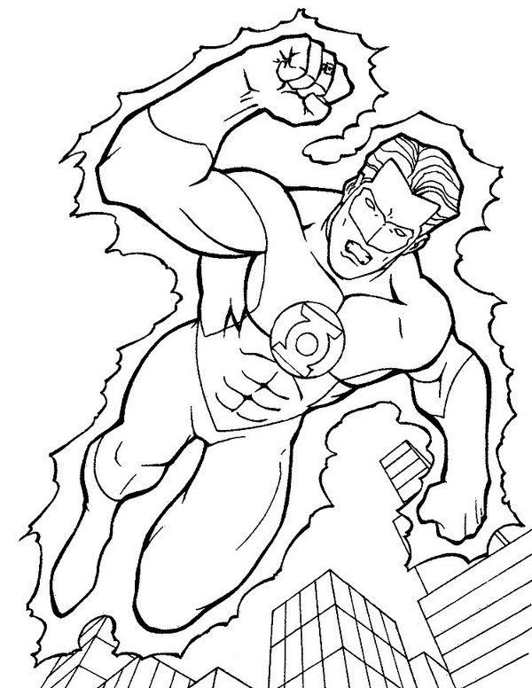 Linterna Verde 2 Dibujos Faciles Para Dibujar Para Ninos Colorear Libro De Colores Paginas Para Colorear Superheroes Para Colorear