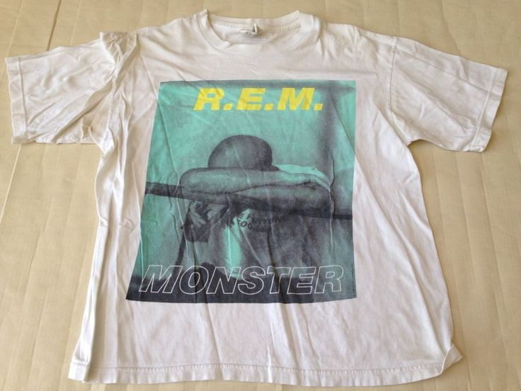 True Vintage REM Monster T Shirt Size XL 1995 Rock CONCERT Made In USA #NiceMan #GraphicTee