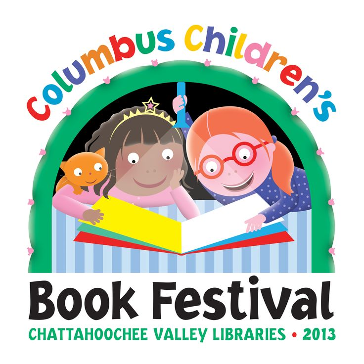 Logo for the Columbus Children's Book Festival held by the Chattahoochee Valley Libraries.