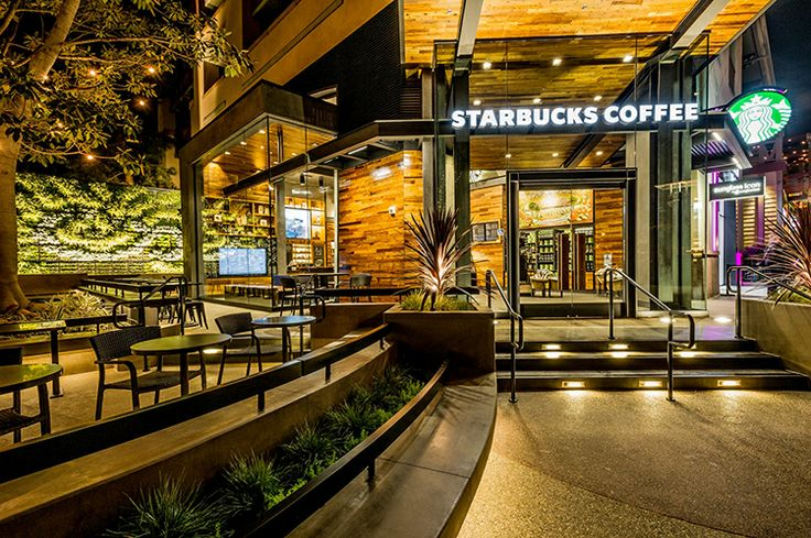 Starbucks has opened its Downtown Disneyland shop, as the first of four planned Starbucks stores slated to open at Disney properties.