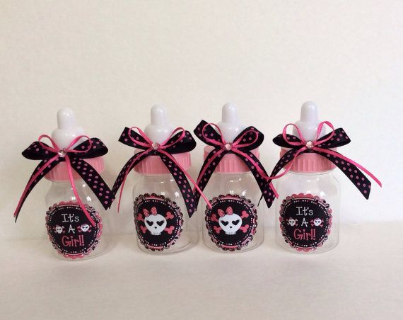 Rock skull baby shower favors Skull girl baby by Marshmallowfavors
