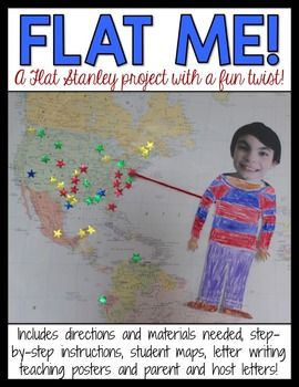 """Flat Stanley is a favorite project of mine, but the generic """"flats"""" that are normally sent out just don't cut it for me. I want students to feel like they've actually been to the places their flats visit, so we make THEM flat instead! This product lays out everything you need to know to implement this fun project into your classroom!"""