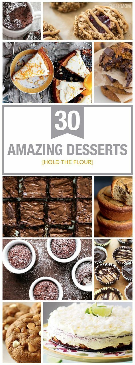30 Flourless Skinny Desserts for You and Your Family to Enjoy! #desserts #flourless #flourlessrecipes #recipes #skinnyeats #skinnymom