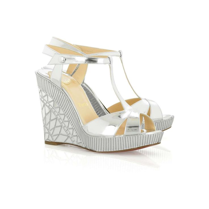 Christian Louboutin Cotton Club metallic wedges |
