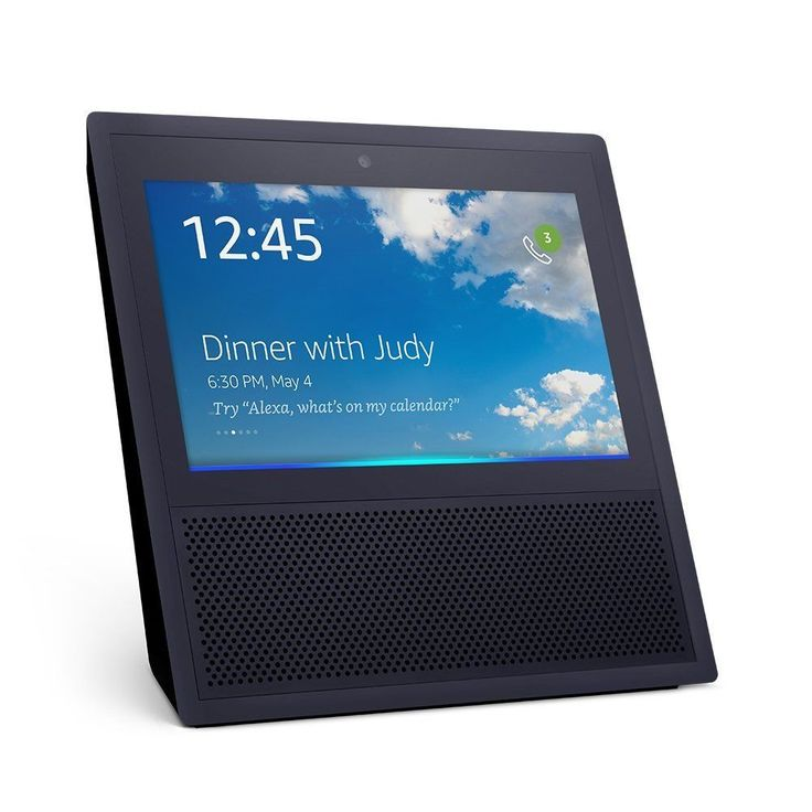 Details about Echo Show Alexa Enabled Bluetooth Speaker 7″ Screen -Black