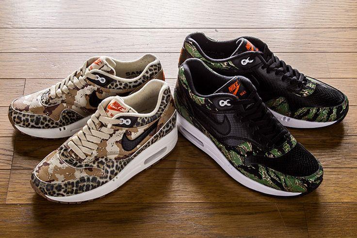 atmos x Nike Air Max 1 Animal Camo Pack.