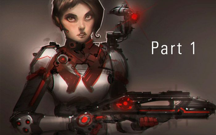 Drawing and Painting a Sci-Fi Female Character - Part One by Ahmed Aldoori - 3DTotal Forums