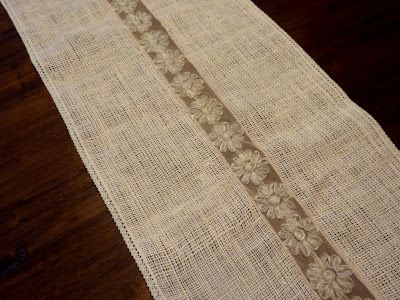 Sewing our Sanity: Burlap Table Runner