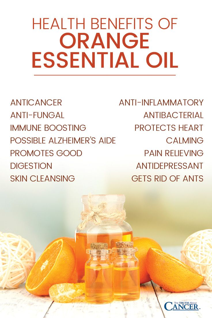 Health Benefits of Orange Essential Oil: anticancer, anti-fungal, immune boosting, possible Alzheimer's aide, promotes good digestion, skin cleansing, anti-aging, antibacterial, reduces blood pressure, protects heart, anti-inflammatory, pain relieving, calming, antidepressant, gets rid of ants. Click through to read on as Marnie Clark talks about the 13 benefits of orange essential oil! Please re-pin. Together we'll empower the world with life-saving knowledge!