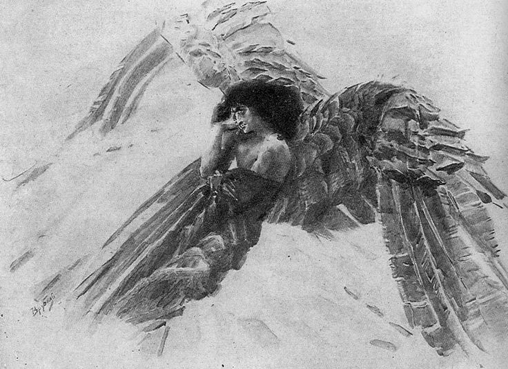 Mikhail Vrubel. Flying Demon.