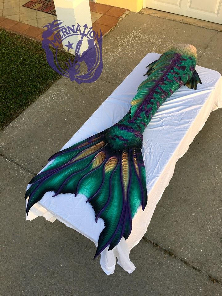 Full Silicone Mermaid Tail by Mernation. Inspired by a sea dragon.