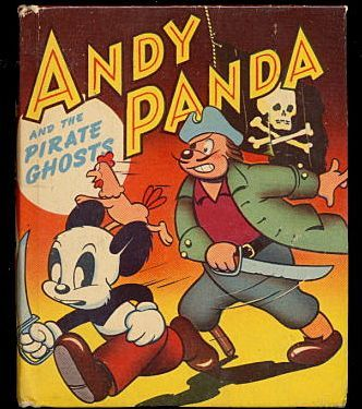 1949 andy panda and the pirate ghost whitman big little book slight soiling to