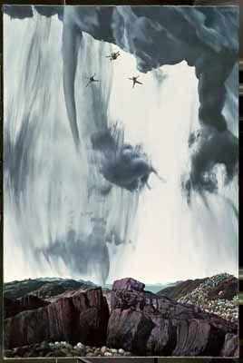 """Parachutisten (Parachutists)"", 1971 / Carel Willink (1900-1983) / Private Collection"