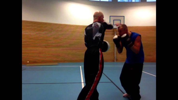 Coach Roger Mittology /Mayweather style - padwork with Kickboxer Champio...