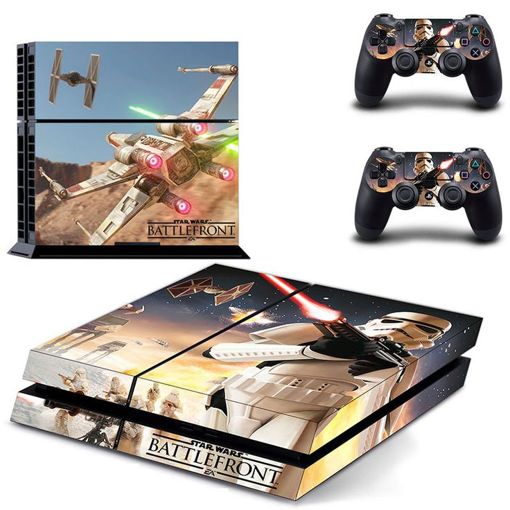 FREE SHIPPING! PS4 Star Wars Battlefront Force Awakens Decal Skin Stickers For Sony PlayStation 4 Console  2 sticks