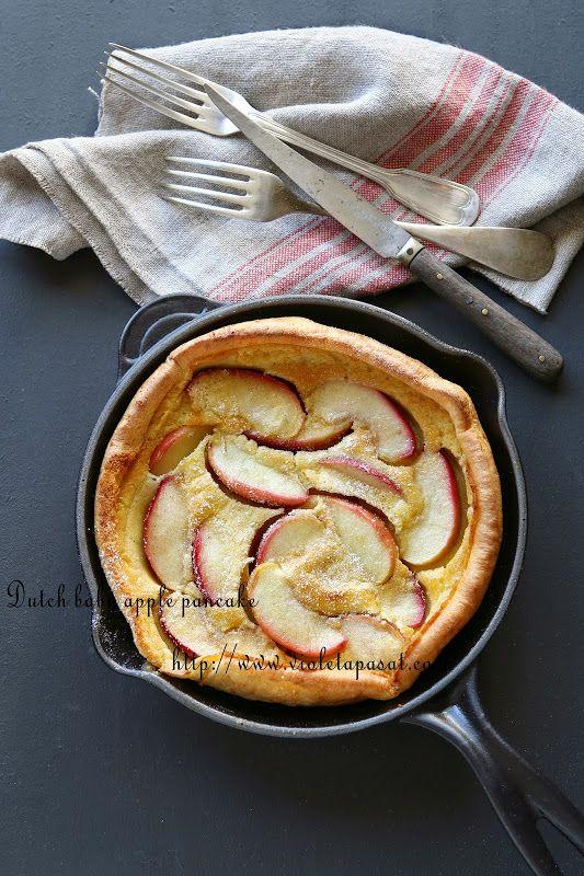 Panqueca de maçã no forno