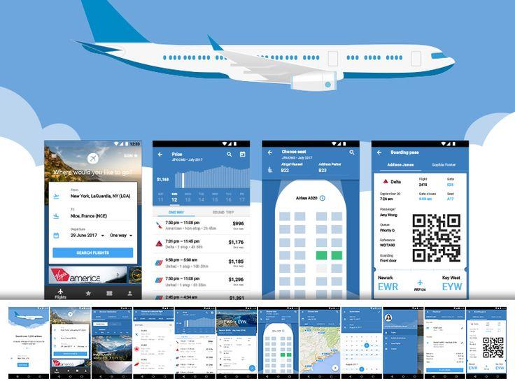 Material Design Flight App