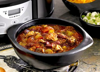 Johnsonville Chiliville Chili--gonna make a few minor adjustments to this recipe but it looks tasty :)