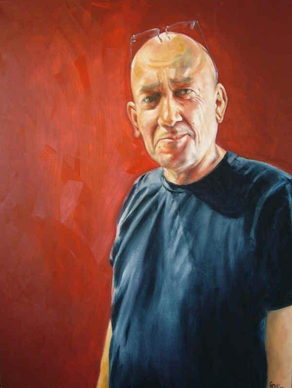 Portrait of Morris Gleitzman by Carolyn Henry