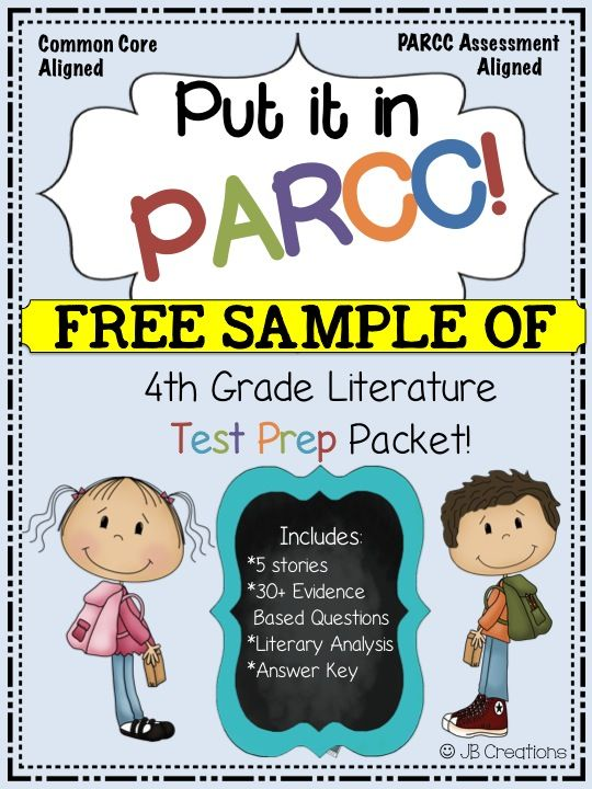 4th Grade PARCC FREEBIE!  Grab a sample from this time-saving, test prep packet and prepare your students for the upcoming assessments! http://www.teacherspayteachers.com/Product/PARCC-Test-Prep-Pack-for-4th-Grade-Literature-Freebie-Sample-1619867