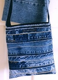 Selvage Blog: selvage look/check out the scrap denim bag