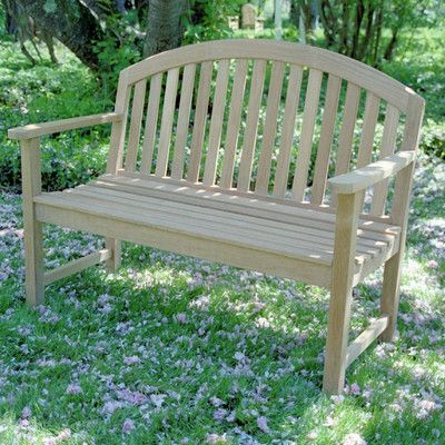 CO9 Design Dodger Teak Garden Bench & Reviews | Wayfair
