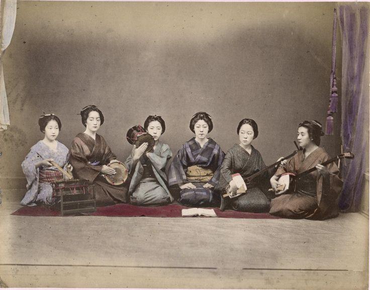 ee Cabinet card albumen photo nude Geisha Japan Asia woman