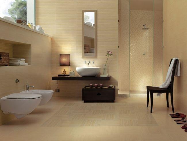 45 besten Bad beige Bilder auf Pinterest Moderne badezimmer - wc fliesen beige