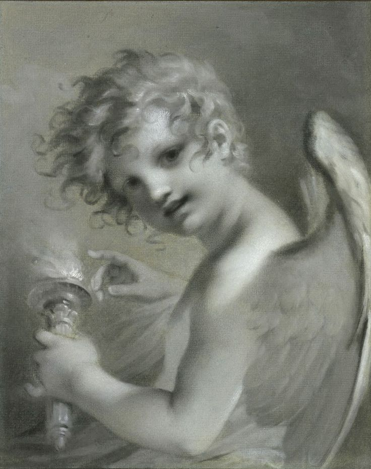 Pierre-Paul Prud'hon   Cupid Testing the Flame of His TorchBefore Dimensions: Sheet: 378 x 302 mm. (14 7/8 x 11 7/8 in.)