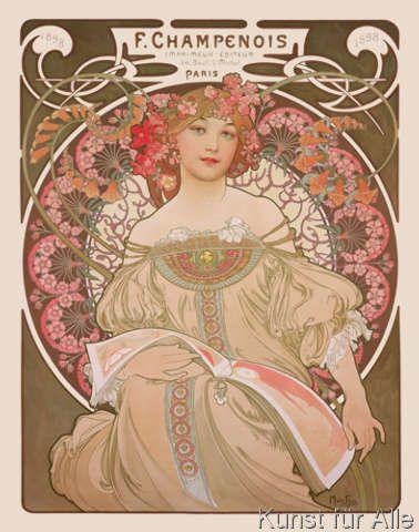 Alphonse Marie Mucha - Reverie, 1897