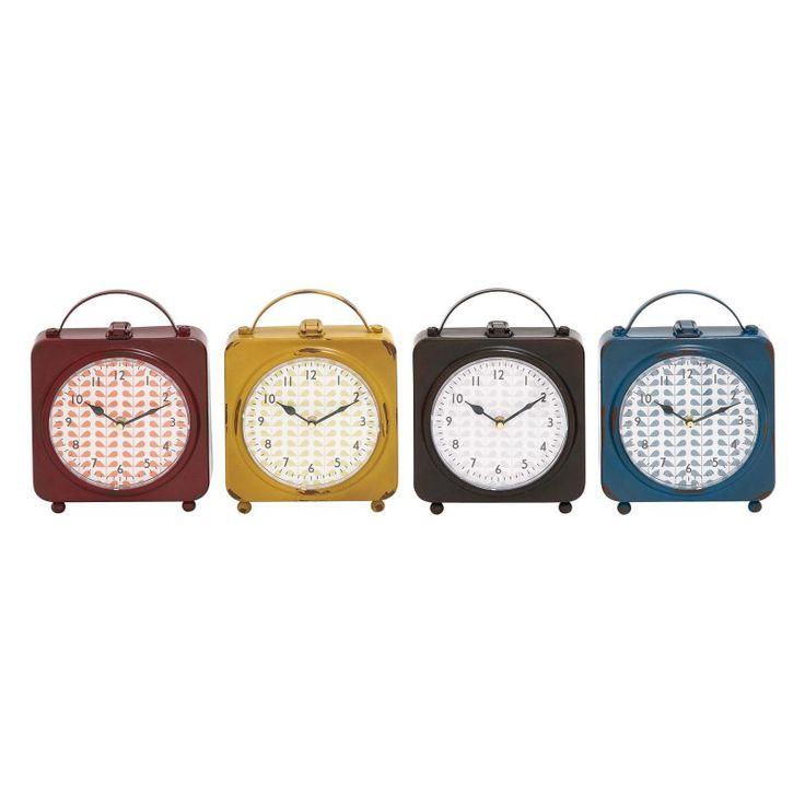 DecMode Delightful Metal Desktop Clock - Set of 4 - 92222