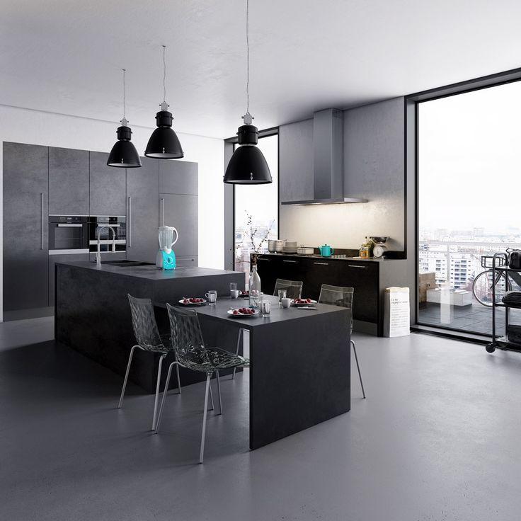 minimalist dark kitchen design