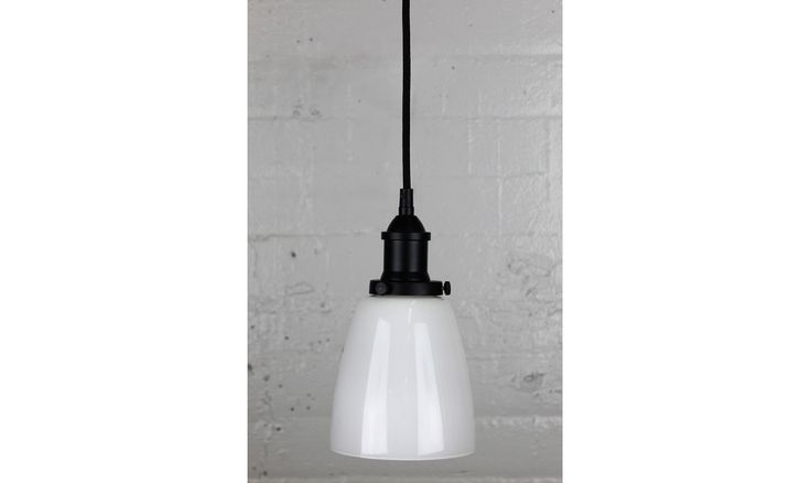 Mr Ralph | Glass Cloche - Opal - Brass, Black, Silver, White and Pewter Fittings - ESSENTIALS, Pendants