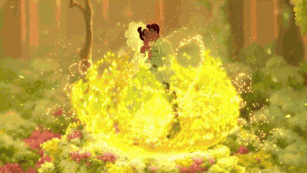 Lors de l'instant suprême de Tiana en robe de mariée. | Les 42 meilleurs instants mode des films Disney