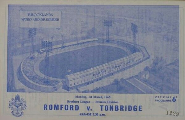 Romford F.C Vs Tonbridge Angls F.C.