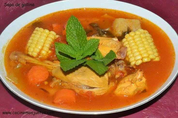 Sopa De Gallina Nicaragua Nicaraguan Food Chicken