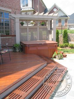 ipe wood decking. Photo from advantagelumber.com . Benefit of ipe wood is that it doesn't rot. Perfect for outdoor shower flooring.