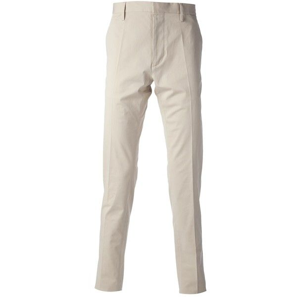 DSQUARED2 skinny chinos (£183) ❤ liked on Polyvore featuring men's fashion, men's clothing, men's pants, men's casual pants, mens skinny chino pants, mens chinos pants, mens skinny pants, mens super skinny dress pants and men's 5 pocket pants