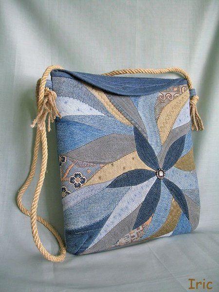 30 variantes de sacos feitos de jeans velhos | PicturesCrafts.com