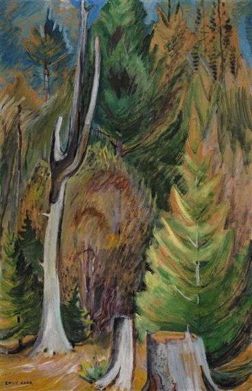 West Coast Forest Edge, c.1936. Emily Carr. s. paper laid down on board, oil (23x31in).