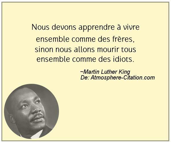 Citation de Martin Luther King - Proverbes Populaires