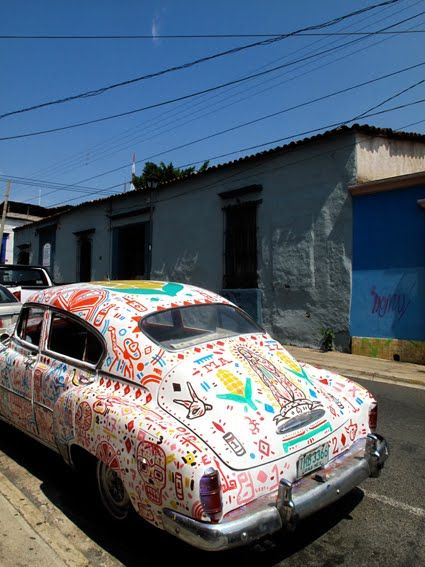 oaxaca hand painted car